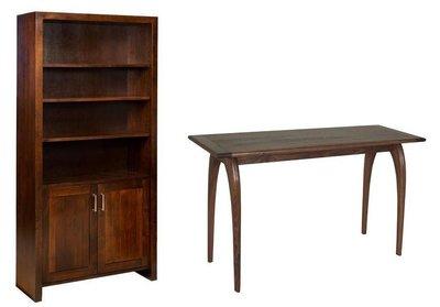The Amish Tempo Bookcase and Chaili Sofa Table