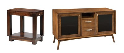 Urban Chairside End Table and Mid Century Modern TV Stand
