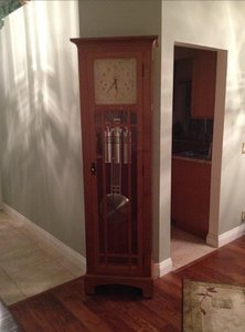 Mission Grandfather Clock with Auto Night Silencer