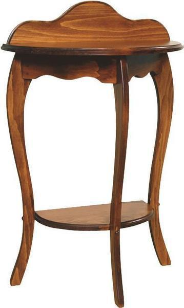 Amish Half Round Pine End Table