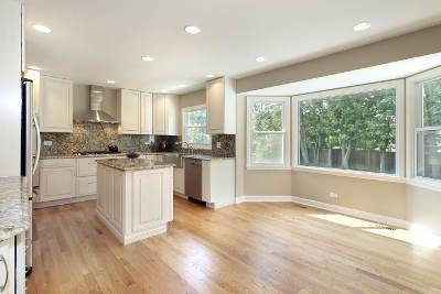 Kitchen windows just right for a nook area.