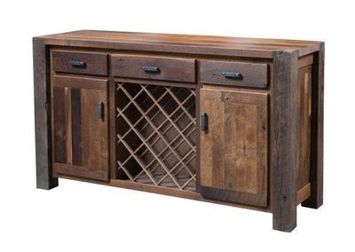 Reclaimed Timber Ridge Wine Server
