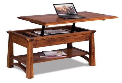 Amish Artesa Open Lift Top Coffee Table