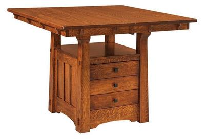 Amish Beaumont Mission Table with Storage