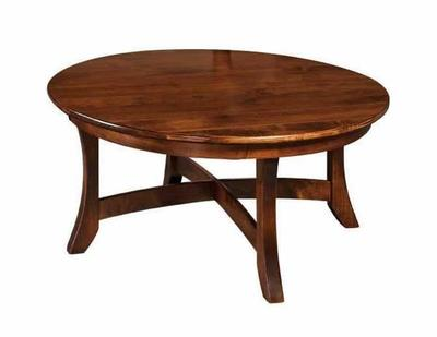 Amish Carona Round Coffee Table