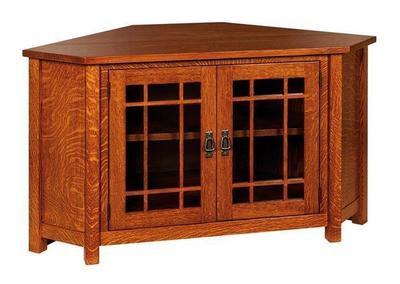 Amish Lancaster Corner TV Cabinet