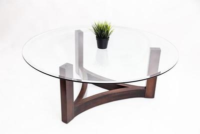 Amish West Bend Glass Top Coffee Table