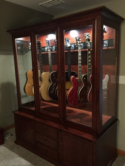 Customized gun cabinet