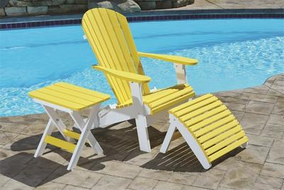 Berlin Gardens Comfo-Back Folding Poly Adirondack Chair
