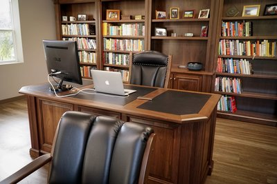Executive Office Furniture made with Walnut Wood