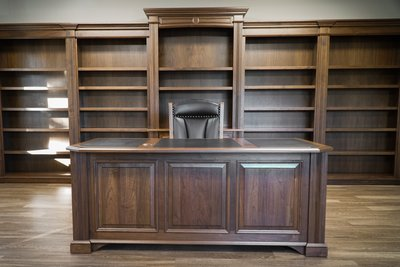 Executive Office Furniture in Walnut Wood
