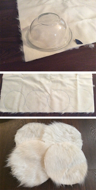Trace and Cut Fur Circles