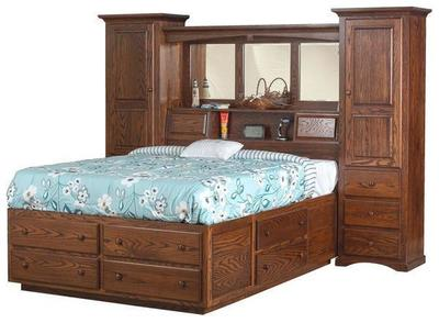 Amish Indiana Trail Wall Unit Bed