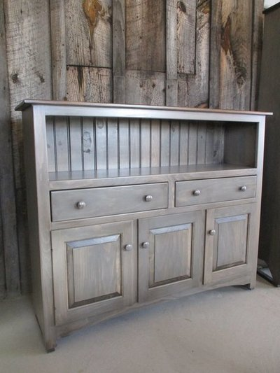 Amish Pine Cambridge Buffet Cabinet with Drawers