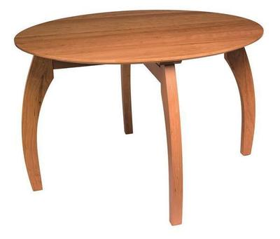 Amish Ripple Back Round Convex Dining Table