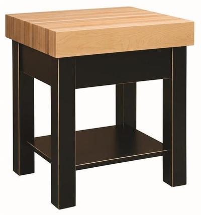 Amish Hard Maple Butcher Block Kitchen Island