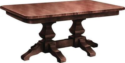 Amish Kingston Double Pedestal Table