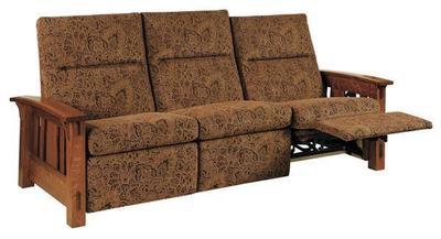 Amish McCoy Mission Wall Hugger Reclining Sofa