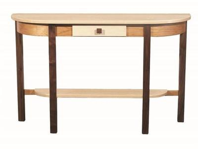 Amish Trinity Half Moon Console Table