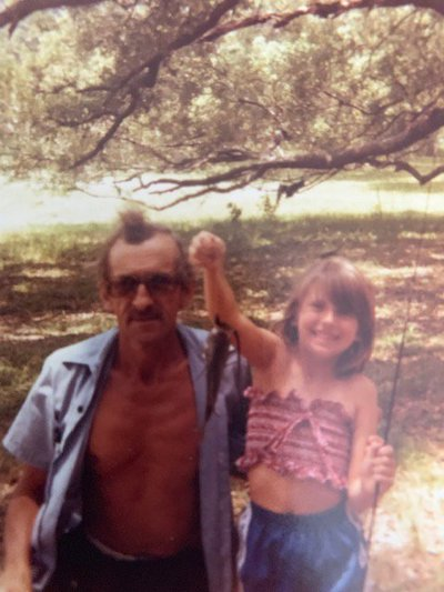 Jenn with her dad.