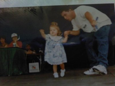 Shannon with her dad.