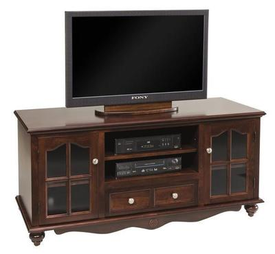 Solid Wood TV Stand with Drawers