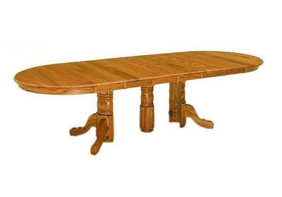 The Amish Split Pedestal Dining Table