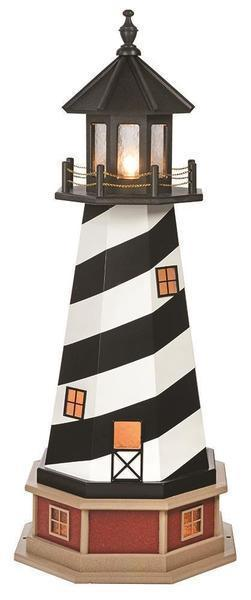 Amish Cape Hatteras NC Hybrid Garden Lighthouse with Base
