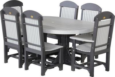 LuxCrafte Poly Captain Chair Oval Dining Set