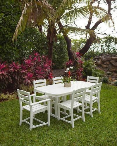 POLYWOOD La Casa Cafe 7-Piece Outdoor Dining Set