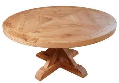 X Base Barnwood Pedestal Table