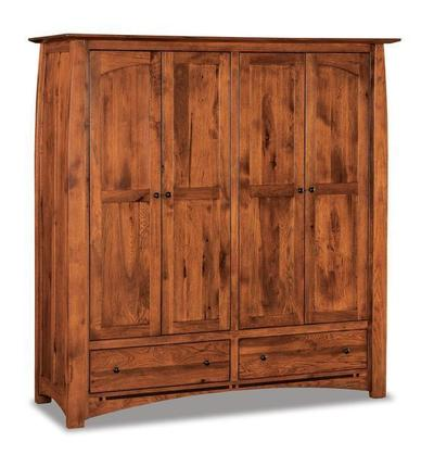 Amish Boulder Creek Double Wardrobe Armoire
