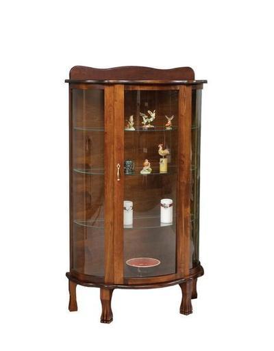 Amish Handcrafted Curio Cabinet Display Case