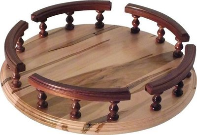 Amish Lazy Susan with Rails and Spindles