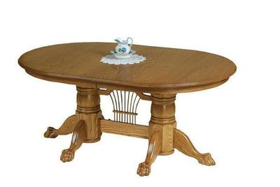 Amish Yorkshire Double Pedestal Dining Table