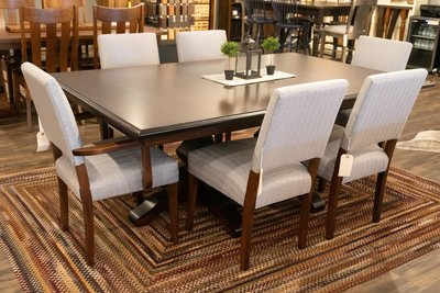 Amish Canaan Dining Chairs with Kingston Table at DutchCrafters