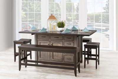 Amish Ancient Mission Kitchen Island with distressing