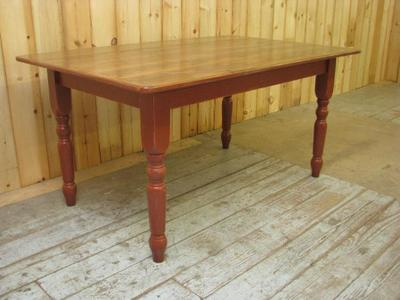 Amish Farm Dining Table with English Turned Legs