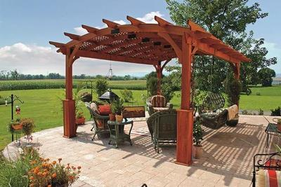 Amish Hearthside Pine Pergola Kit