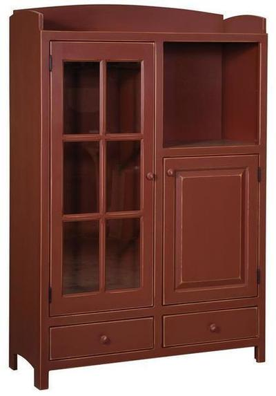 Amish Pine Pottery Pantry Cabinet