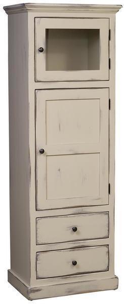 Amish Pine Wood Linen Cabinet