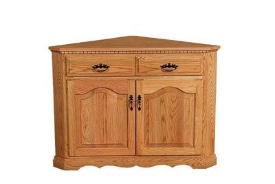 Amish Solid Wood Corner Buffet Cabinet