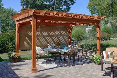 Amish Traditional Pine Pergola Kit