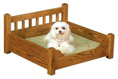 Amish Wood Pet Bed