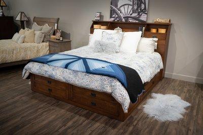 The Amish Laramie Storage Bed