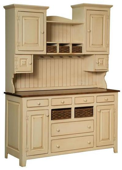 Sadie's Pine Wood Painted Hutch