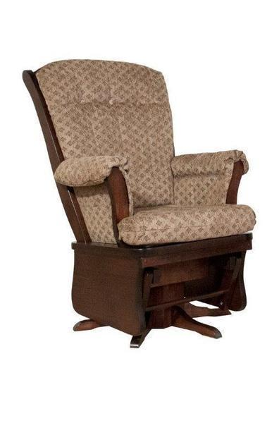 Amish Sleigh Back Swivel Glider