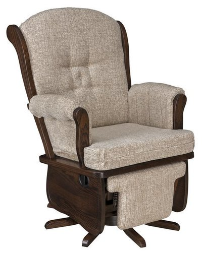 Amish Swan Back Swivel Glider
