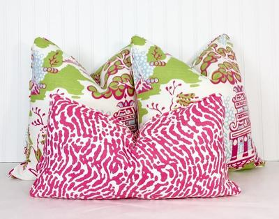 Custom pillows from Southern Shades