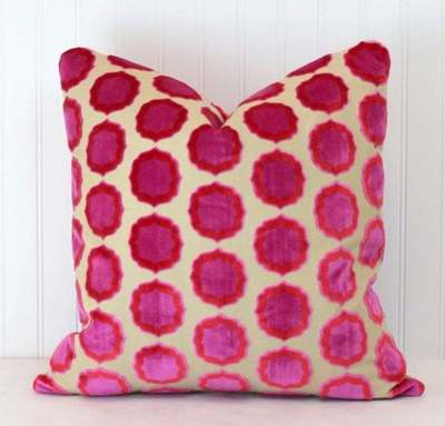 Velvet pillow from Southern Shades